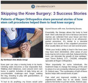 Regen Orthopedics | Stem Cell Clinic
